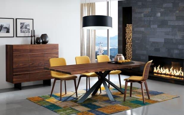 Oliver B Casa Highboard Horizon HZ 1100 wallnuss mit Tisch