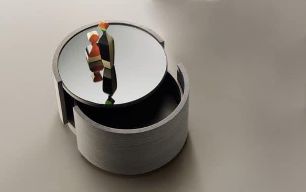 san giacomo runder nachttisch cidori. Black Bedroom Furniture Sets. Home Design Ideas