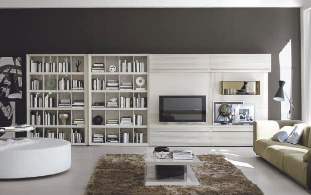 san giacomo tv wand alfa 45 zwei b cherregalen. Black Bedroom Furniture Sets. Home Design Ideas