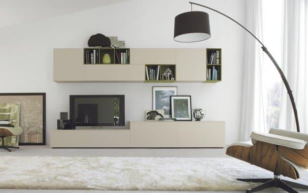 san giacomo design tv wohnwand lampo 56. Black Bedroom Furniture Sets. Home Design Ideas