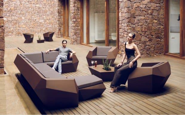 Vondom Faz Butaca Sessel in der Kollektion in Braun