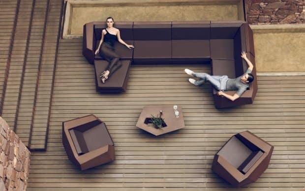 Vondom Faz Sofa Element Mitte Rechts Links Ecke