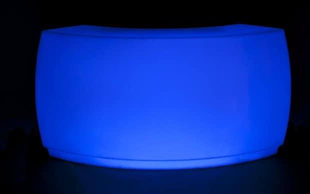 Vondom Fiesta Barra Curva blau led