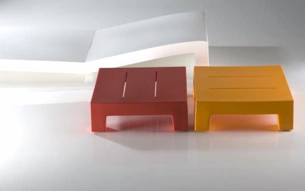 Vondom Jut Mesa 60 Tisch rot orange