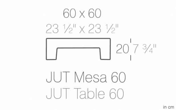 Vondom Jut Mesa 60 Tisch skizze