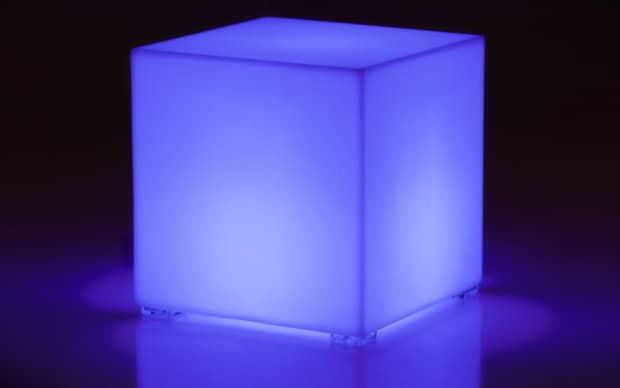 Kubik LED Beistelltisch Hocker