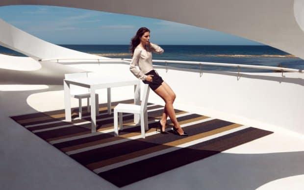 Vondom Lines XS Outdoor Teppich Stuhl Tisch