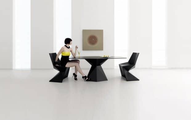 Vondom Vertex Silla Stuhl schwarz