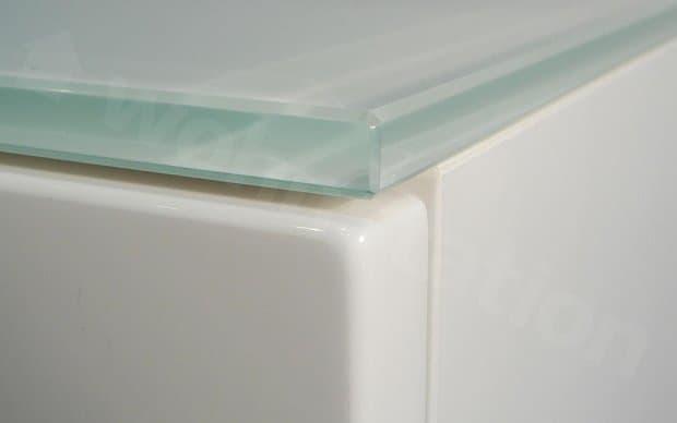 Arctic Nachttisch weiße Glasplatte