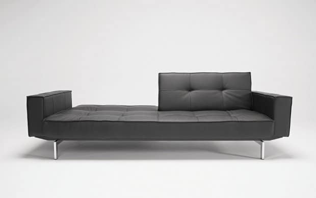 Innovation Sofa Splitback with Arms Schwarz
