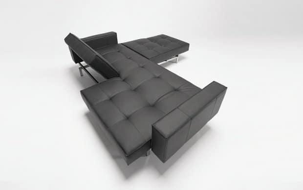 Innovation Sofa Splitback with Arms schwarz von oben