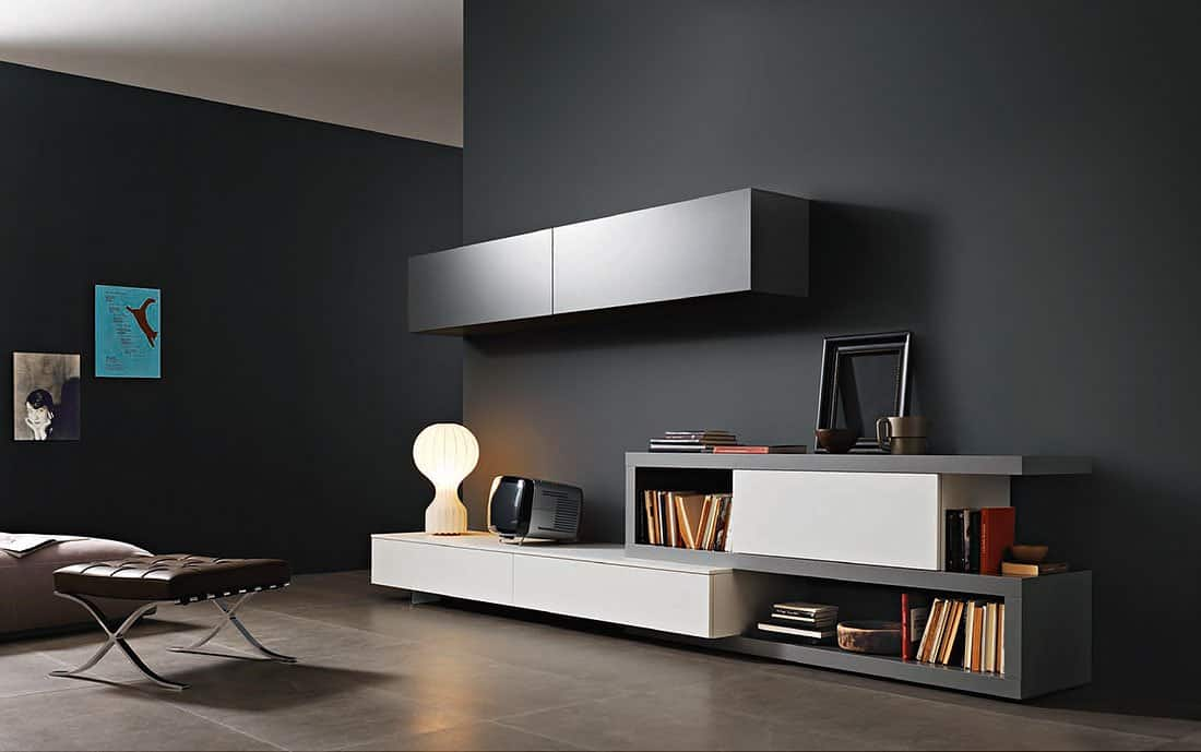 tv wand lampo l2 23 lowboard. Black Bedroom Furniture Sets. Home Design Ideas