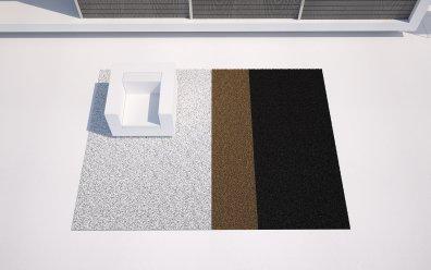 Vondom Lines XL Outdoor Teppich schwarz, weiß, gold Terrasse