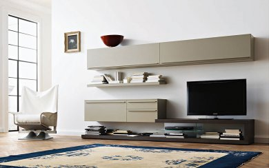 tv wand lampo l2 10 mit beleuchtung. Black Bedroom Furniture Sets. Home Design Ideas