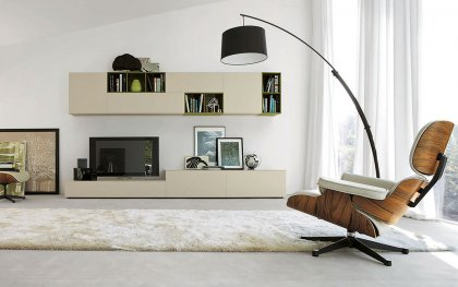 tv wand lampo l2 38 design wohnwand. Black Bedroom Furniture Sets. Home Design Ideas