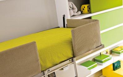 Schrankbett, Regal & Schreibtisch System Lollidesk